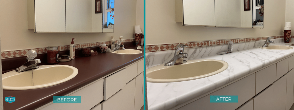 Bathroom Countertops- BEFORE&AFTER