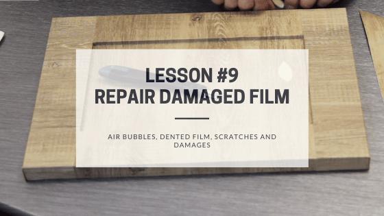 How to repair damaged film