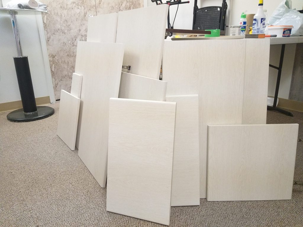 dismantled cabinets