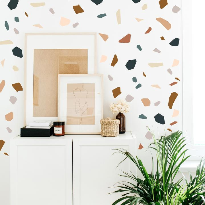 faux terrazzo wall decals