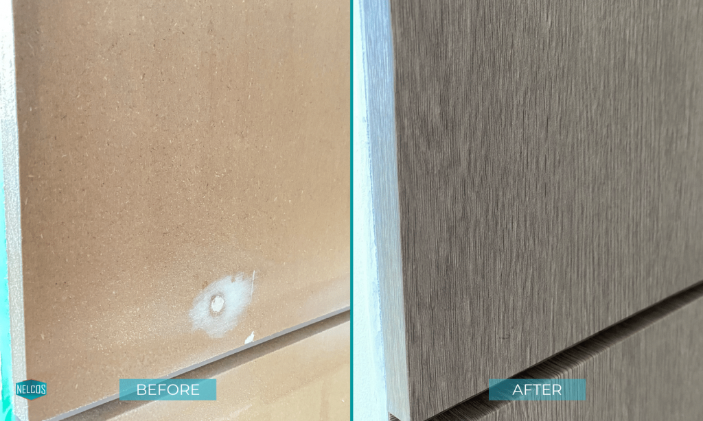 Wall panelling Before&After Refinishing