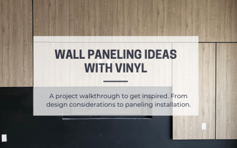 Wall paneling ideas with vinyl