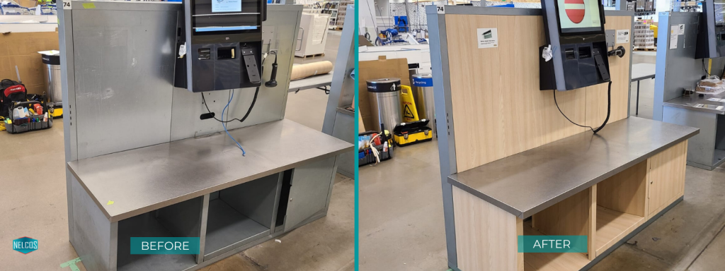 IKEA Self Checkout refinished with W389 from Wood Collection