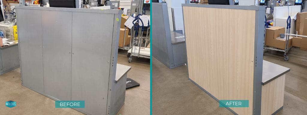 IKEA Self Checkout Desk Refinished with W389 Bodaq Interior Film