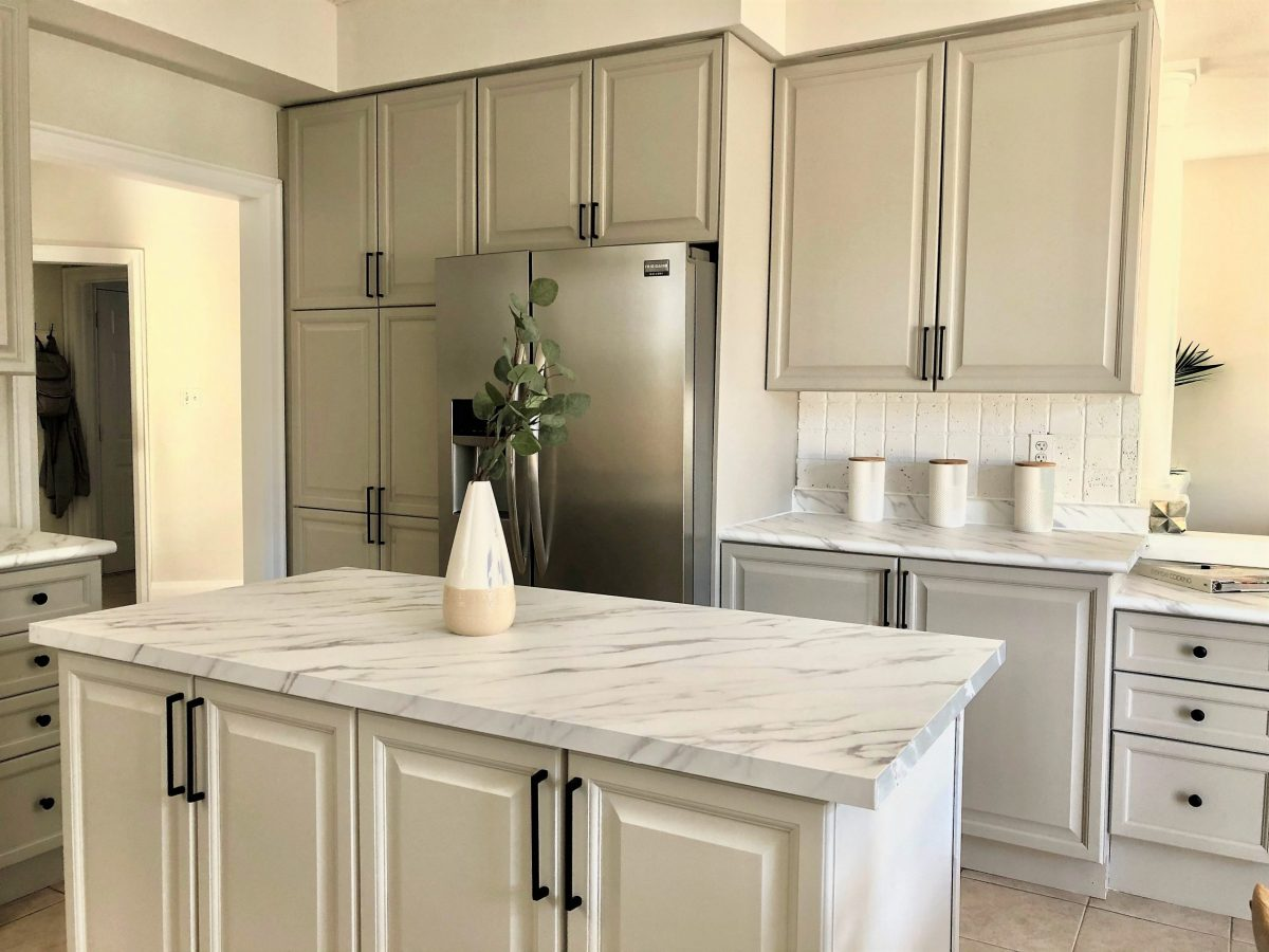 countertop renovated with architectural film
