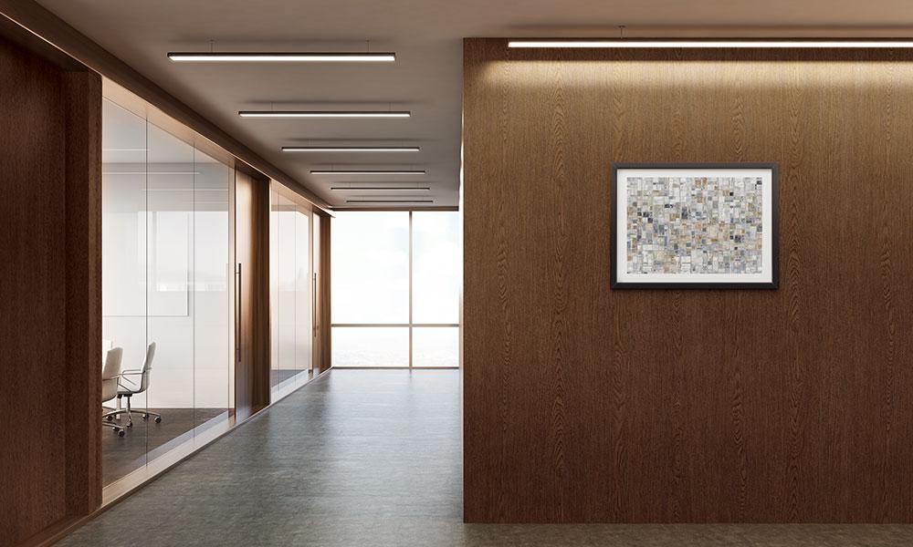 office renovation with vinyl film