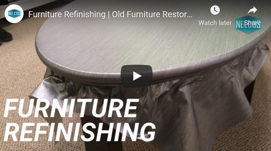 YouTube furniture refinishing